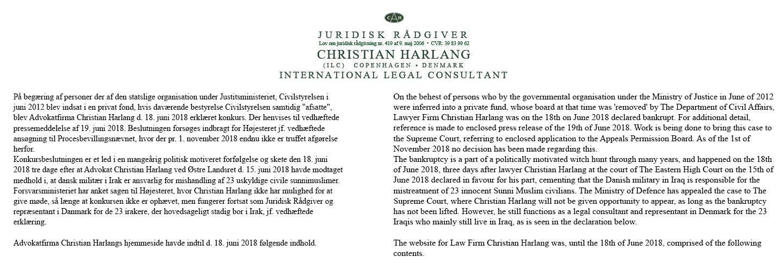Juridisk Rådgiver Christian Harlang Logo